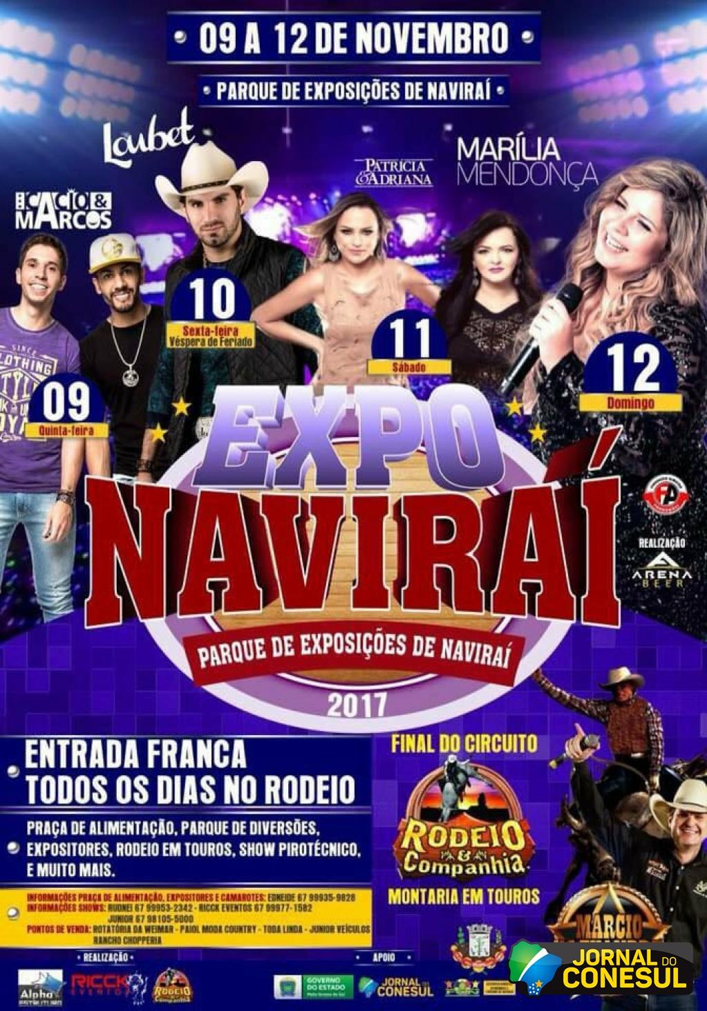 Circuito Rodeio 2018 : Jornal do conesul expo naviraí com entrada franca no rodeio